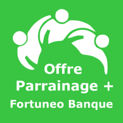 Logo Offre parrainage + Fortuneo Banque