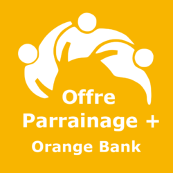 Logo Offre parrainage + Orange Bank